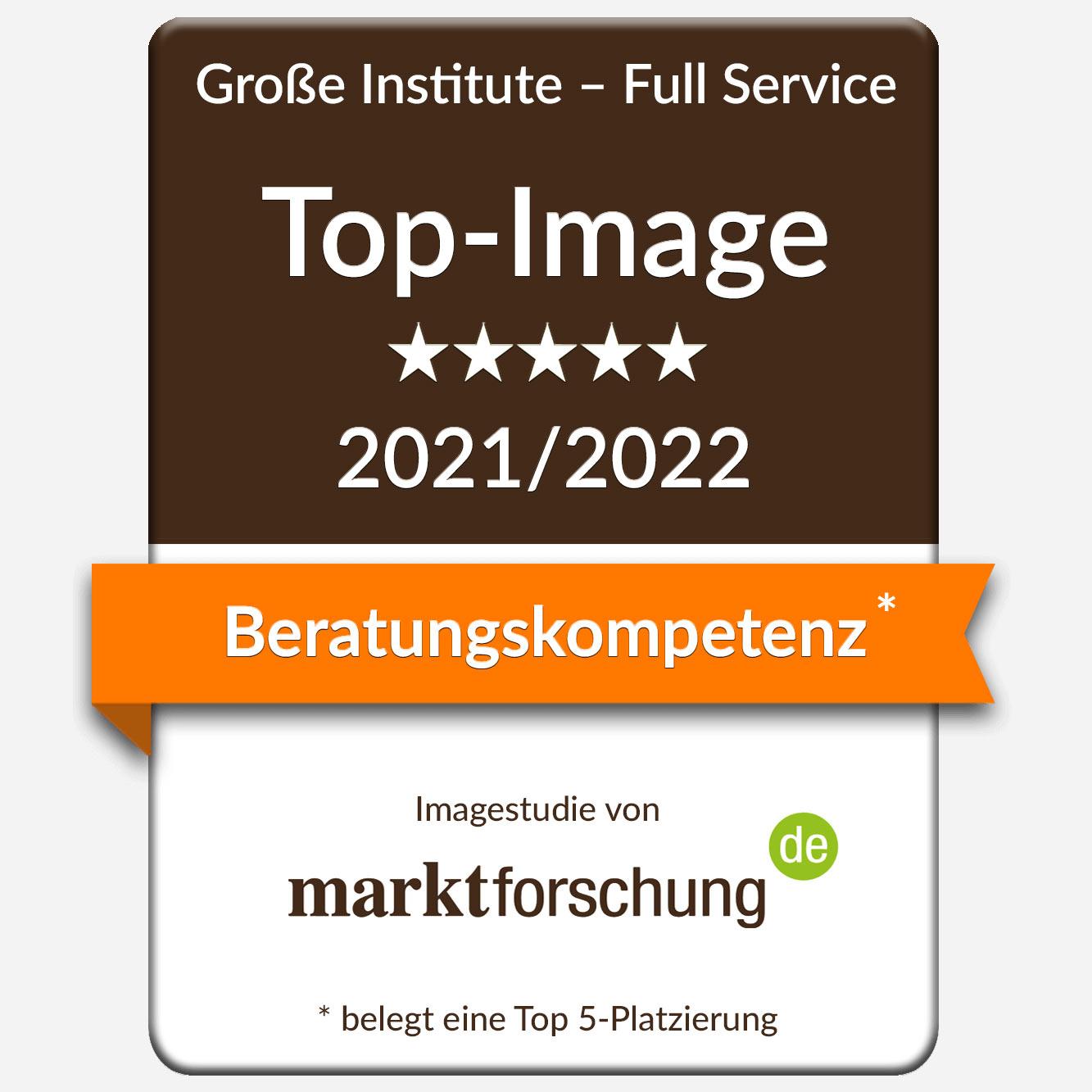 Siegel Imagestudie zur Beratungskompetenz von marktforschung.de